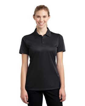 Sport-Tek LST695 Ladies Active Textured Colorblock Polo