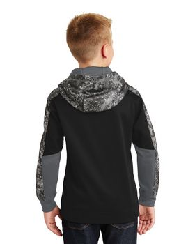 Sport-Tek YST231 Youth Sport-Wick Mineral Freeze Fleece Colorblock Hooded Pullover