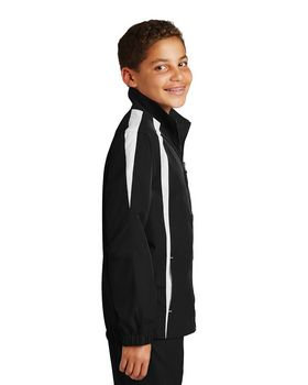 Sport-Tek YST60 Youth Colorblock Raglan Jacket