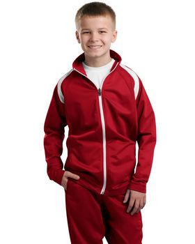 Sport-Tek YST90 Youth Tricot Track Jacket