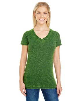 Threadfast Apparel 215B Ladies Cross Dye V-Neck Tee