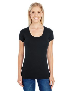 Threadfast Apparel 220S Ladies Spandex Scoop Neck Tee