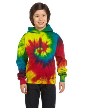 Tie-Dye CD877Y Youth  Tie-Dyed Pullover Hood