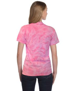 Tie Dye H1150 Adult Pink Ribbon Rainbow Cotton Tee
