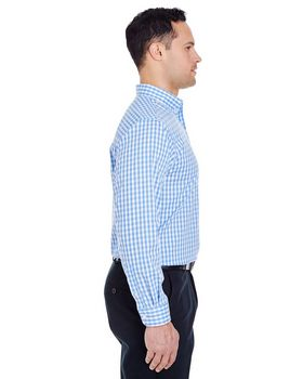 Ultraclub 8385 Men's Medium-Check Woven