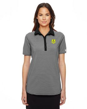 Under Armour 1283944 Women Playoff Stripe Polo Shirt