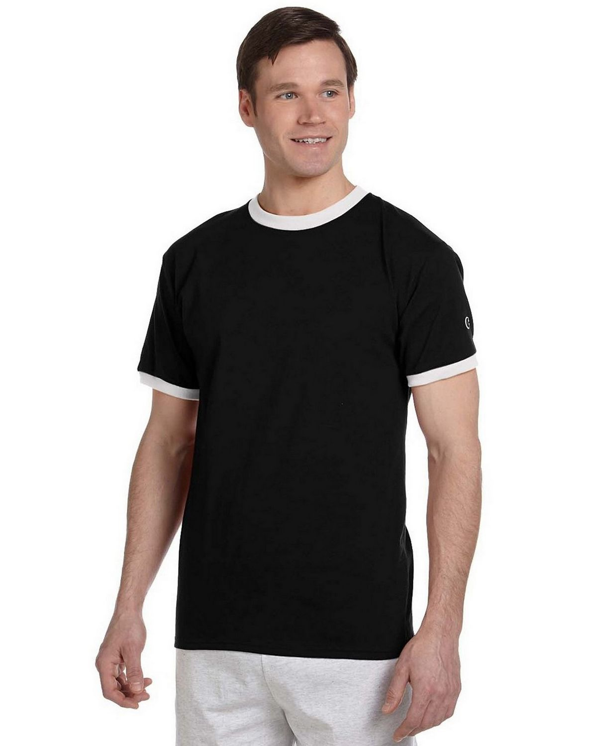dda85bd4 Champion T1396 5.6 oz. Cotton Tagless Ringer T-Shirt ...