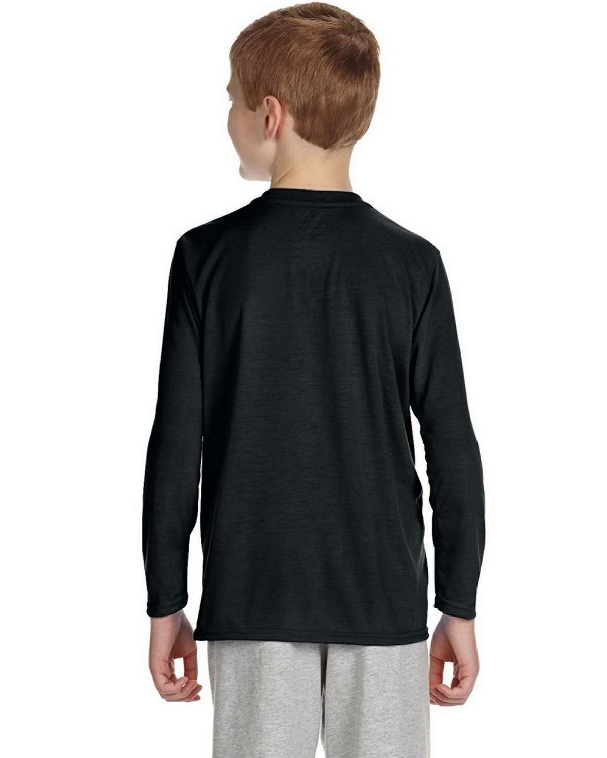 Gildan g424b youth performance long sleeve t shirt size for Gildan brand t shirt size chart