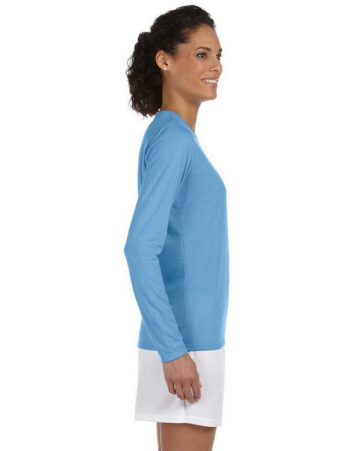 Gildan g424l performance long sleeve t shirt size chart for Gildan brand t shirt size chart