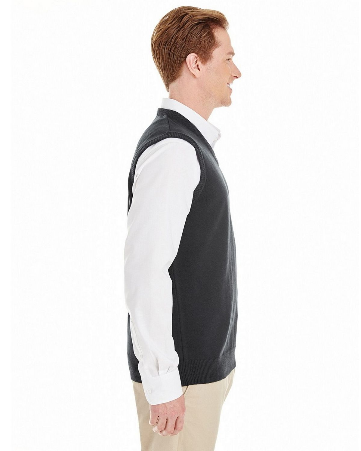 Harriton M415 Mens Pilbloc V-Neck Sweater Vest - ApparelnBags.com