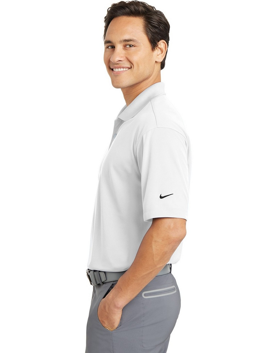 Buy Logo Embroidered Nike Golf 363807 Men Dri Fit Micro Pique Polo Shirt