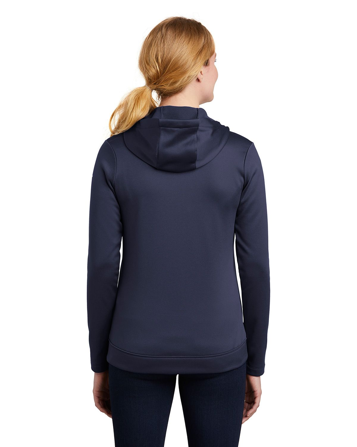 Nike Golf Nkah6264 Ladies Therma Fit Full Zip Fleece Hoodie Hood is lined with mesh. nike golf nkah6264 women s therma fit full zip fleece hoodie