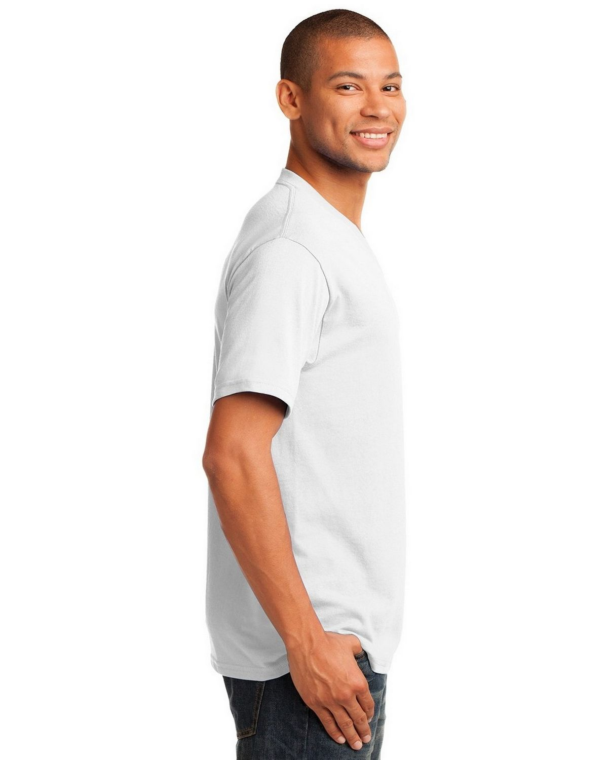 851a782c1eee Buy Port & Company PC54V 5.4-oz 100% Cotton V-Neck T-Shirt by Port ...