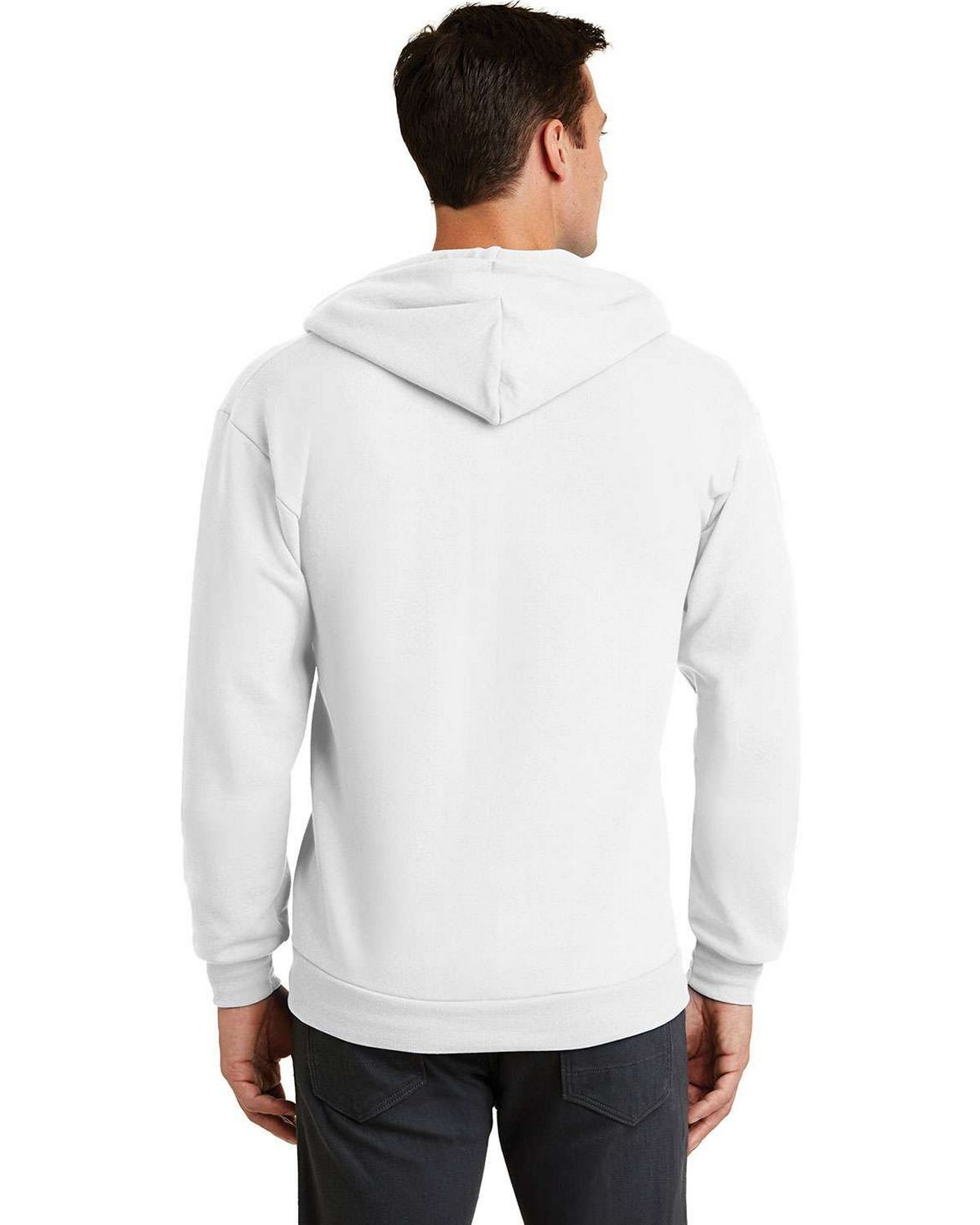 Port & Company PC78ZH 7.8-oz Full-Zip Hooded Sweatshirt ...