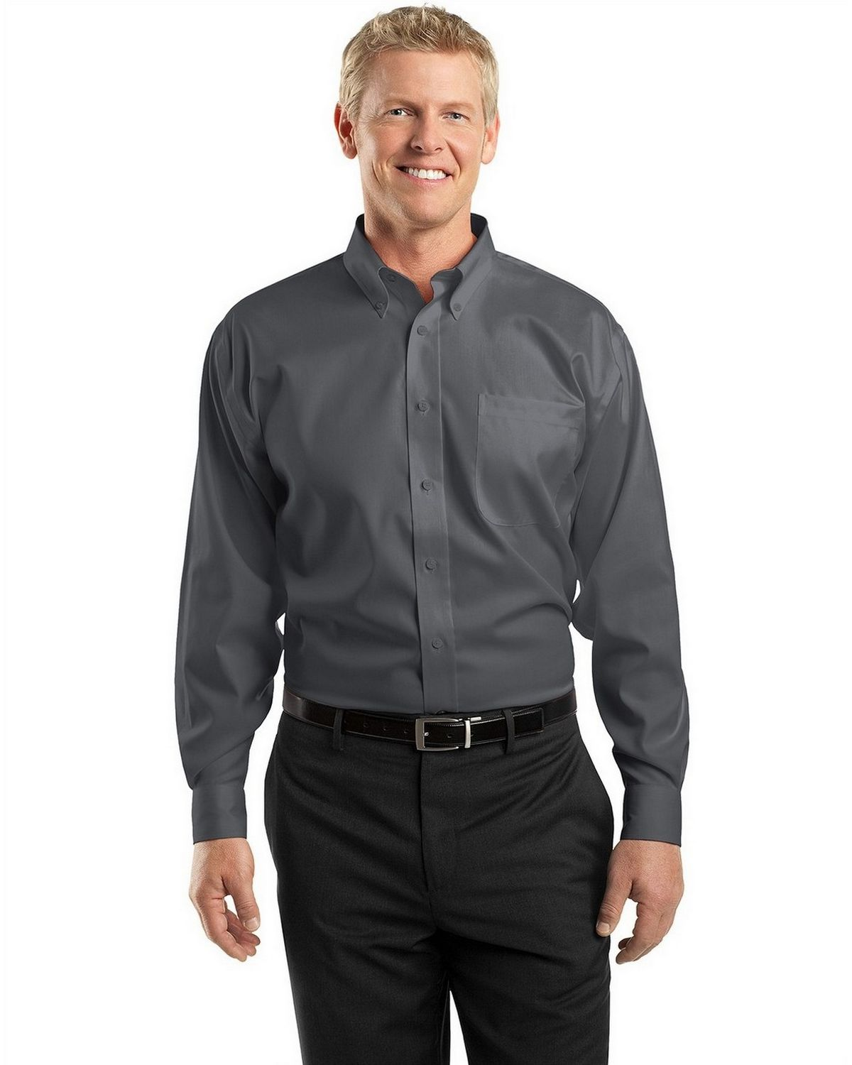 Port Authority Easy Care Men Dress Shirts Long Sleeve Regular Extended Tall Sizes