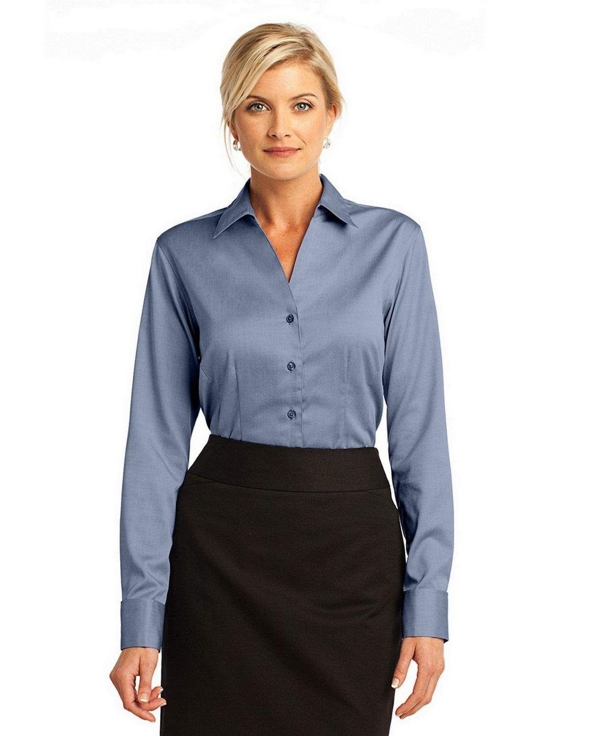 Red house rh63 ladies fitted non iron pinpoint oxford for Ladies non iron shirts