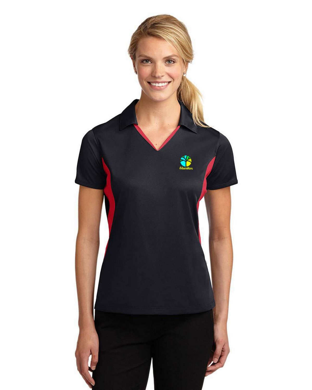 Buy Sport Tek Lst655 Ladies Side Blocked Micropique Sport